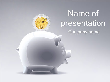 Шаблон презентации Копилка хрюшка - Титульный слайд