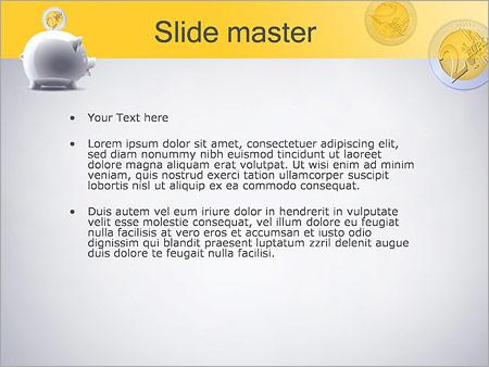 Шаблон PowerPoint Копилка хрюшка - Второй слайд