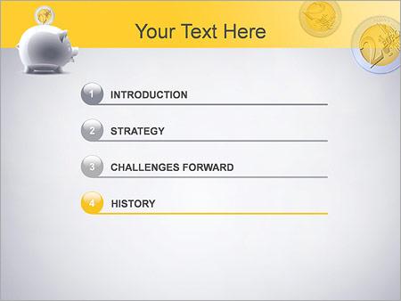 Шаблон для презентации Копилка хрюшка - Третий слайд