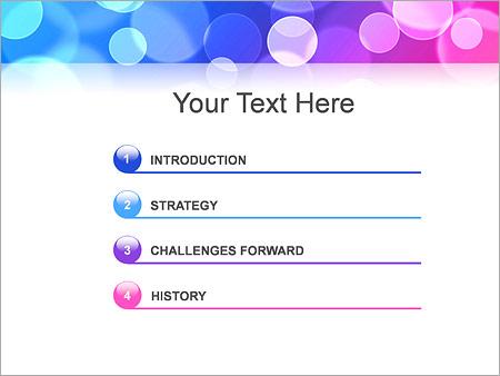 Шаблон для презентации Розовые и синие пузыри - Третий слайд