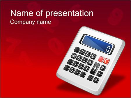 Шаблон презентации Калькулятор - Титульный слайд