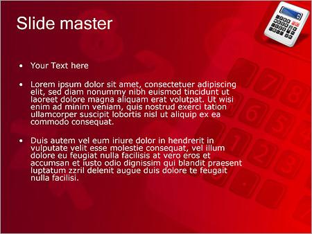 Шаблон PowerPoint Калькулятор - Второй слайд