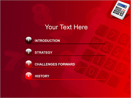 Шаблон для презентации Калькулятор - Третий слайд