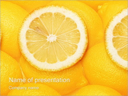 Шаблон презентации Лимон - Титульный слайд