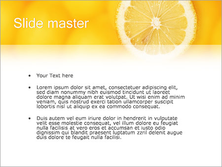 Шаблон PowerPoint Лимон - Второй слайд