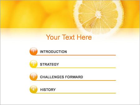 Шаблон для презентации Лимон - Третий слайд