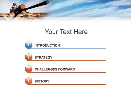 Шаблон для презентации Танк с солдатами - Третий слайд