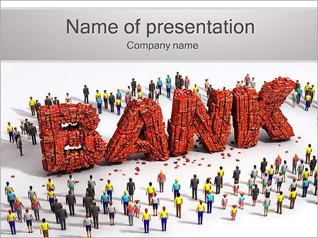 Шаблон презентации Банк и клиенты - Титульный слайд