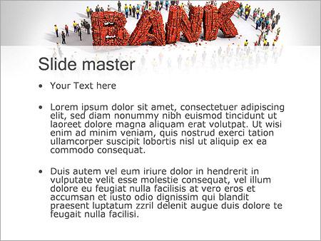 Шаблон PowerPoint Банк и клиенты - Второй слайд