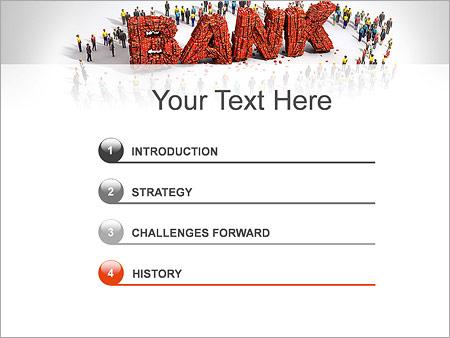 Шаблон для презентации Банк и клиенты - Третий слайд