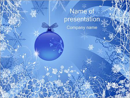 Шаблон презентации Новогодние украшения - Титульный слайд