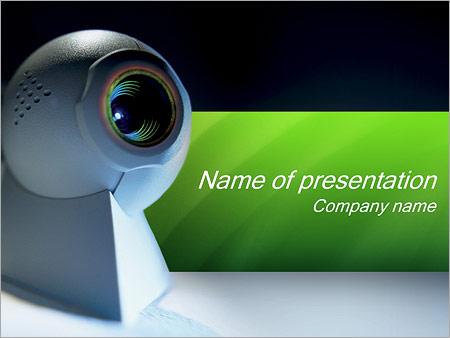 Шаблон презентации Веб-камера - Титульный слайд