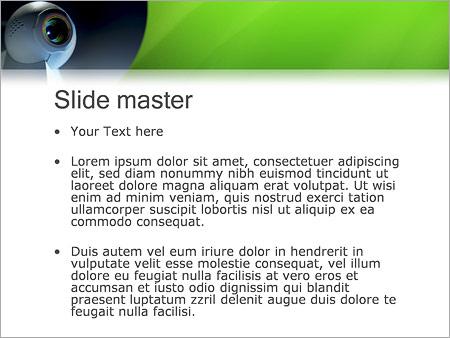 Шаблон PowerPoint Веб-камера - Второй слайд