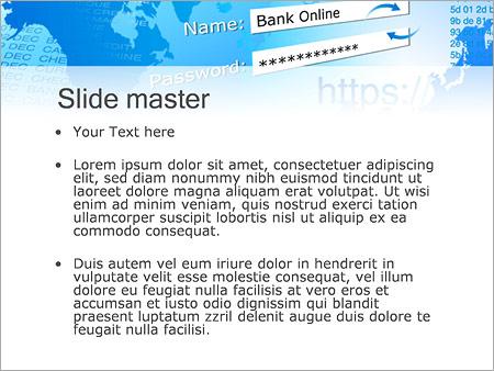 Шаблон PowerPoint Защищенное соединение - Второй слайд