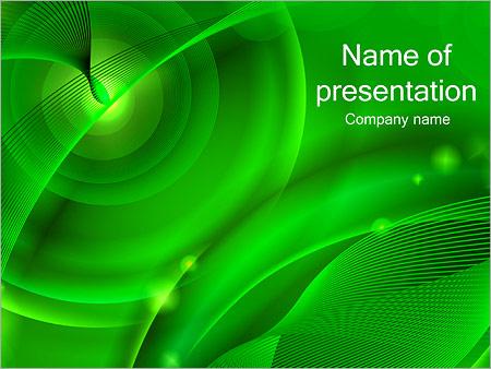 Шаблон презентации Зеленая психоделика - Титульный слайд