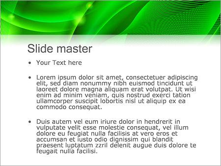 Шаблон PowerPoint Зеленая психоделика - Второй слайд