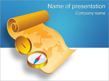 Шаблон презентации Компас и карта - Титульный слайд