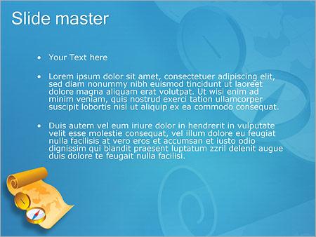 Шаблон PowerPoint Компас и карта - Второй слайд