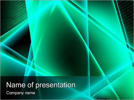 Шаблон презентации Бирюзовая абстракция - Титульный слайд
