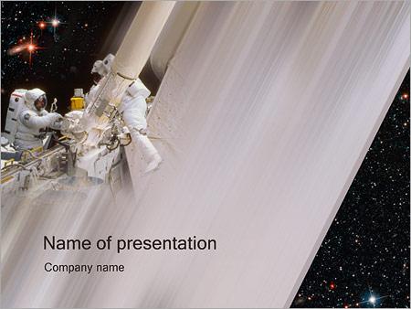 Шаблон презентации Космонавты - Титульный слайд