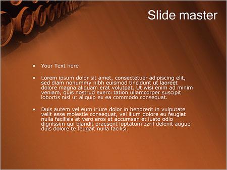 Шаблон PowerPoint Бочки на складе - Второй слайд