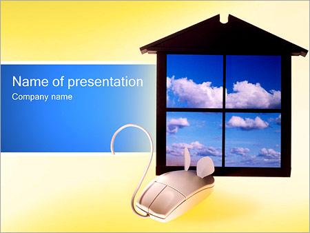 Шаблон презентации Windows и мышь - Титульный слайд