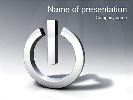 Шаблон презентации Кнопка питания - Титульный слайд