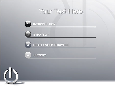 Шаблон для презентации Кнопка питания - Третий слайд