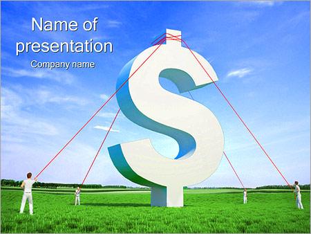 Шаблон презентации Знак доллара - Титульный слайд