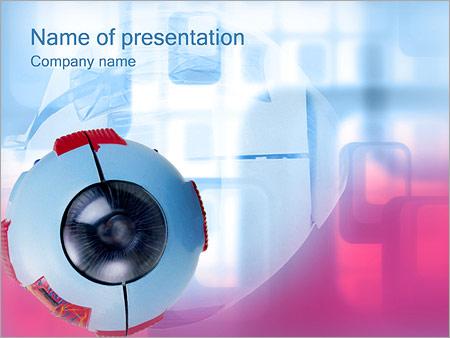 Шаблон презентации Медицинская модель глаза - Титульный слайд