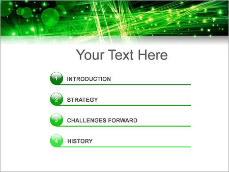 Шаблон для презентации Зеленое оптоволокно - Третий слайд
