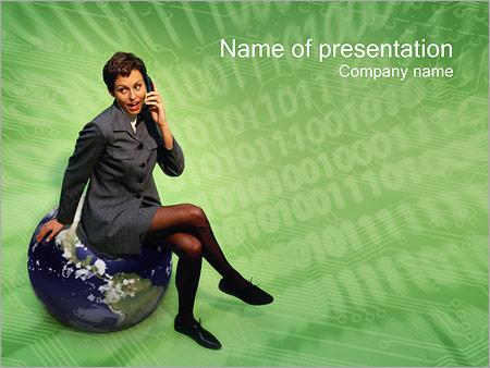 Шаблон презентации Мобильная связь - Титульный слайд