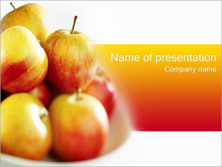 Шаблон презентации Деревенские яблоки - Титульный слайд