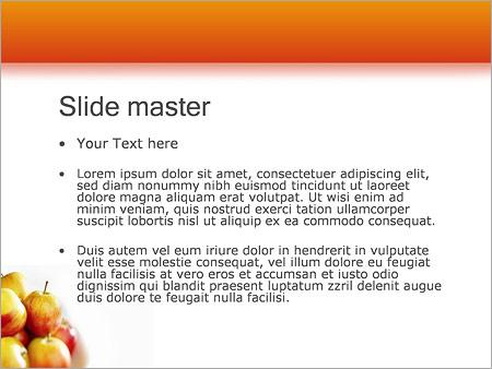 Шаблон PowerPoint Деревенские яблоки - Второй слайд