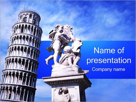 Шаблон презентации Пизанская башня - Титульный слайд