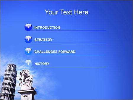 Шаблон для презентации Пизанская башня - Третий слайд