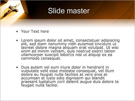 Шаблон PowerPoint Иисус на кресте - Второй слайд
