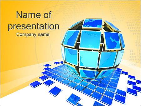 Шаблон презентации Глобус из мониторов - Титульный слайд