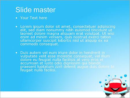 Шаблон PowerPoint Чистый автомобиль - Второй слайд