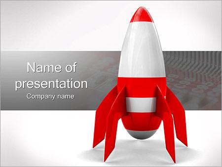 Шаблон презентации Красная ракета - Титульный слайд