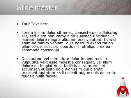 Шаблон PowerPoint Красная ракета - Второй слайд