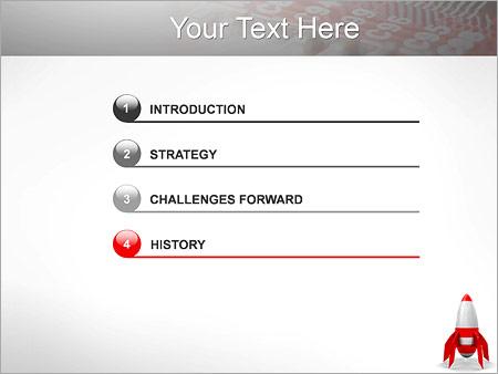 Шаблон для презентации Красная ракета - Третий слайд