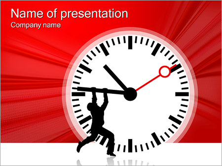 Шаблон презентации Человек останавливает время - Титульный слайд