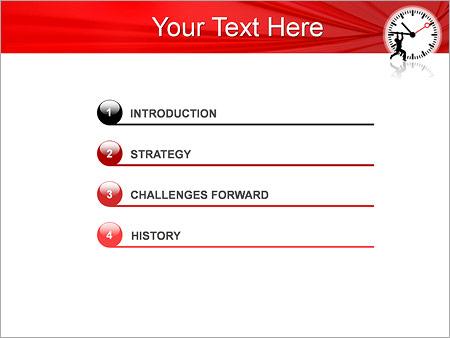 Шаблон для презентации Человек останавливает время - Третий слайд
