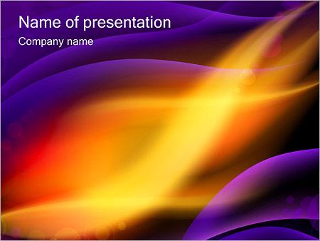 Шаблон презентации Северное сияние - Титульный слайд