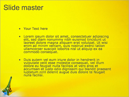 Шаблон PowerPoint Статуэтка Эйфелева башня - Второй слайд