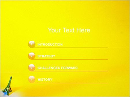 Шаблон для презентации Статуэтка Эйфелева башня - Третий слайд