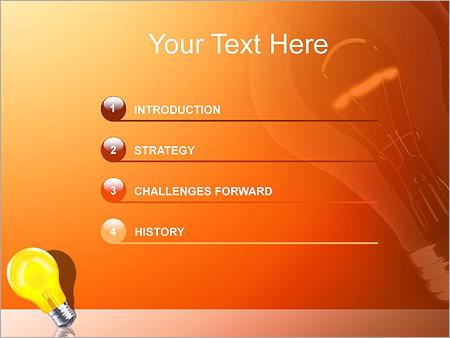 Шаблон для презентации Светящаяся желтая лампа - Третий слайд