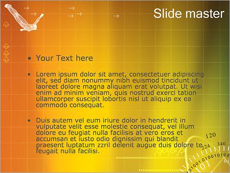 Шаблон PowerPoint Гироскоп и притяжение - Второй слайд