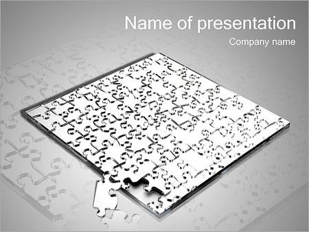 Шаблон презентации Большая головоломка паззл - Титульный слайд